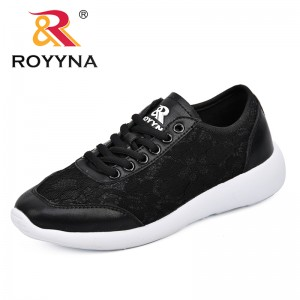 ROYYNA 2018 Women Lace Up Shoes Soft Deodorant Insole Ultra Light Shoes Women All-Match Sneakers For Outdoor Walking Flats Shoes