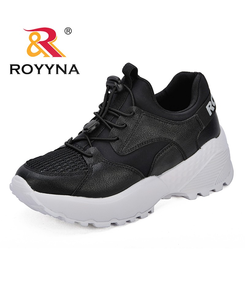ROYYNA New Classics Style Women Sneakers Shoes Mesh PU Outsole Female Casual Shoes Lace Up Microfiber Lady Flats Free Shipping