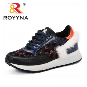 ROYYNA New 2018 Autumn Fashion Women Casual Shoes Microfiber Platform Shoes Sneakers Ladies Comfortable Trainers Chaussure Femme
