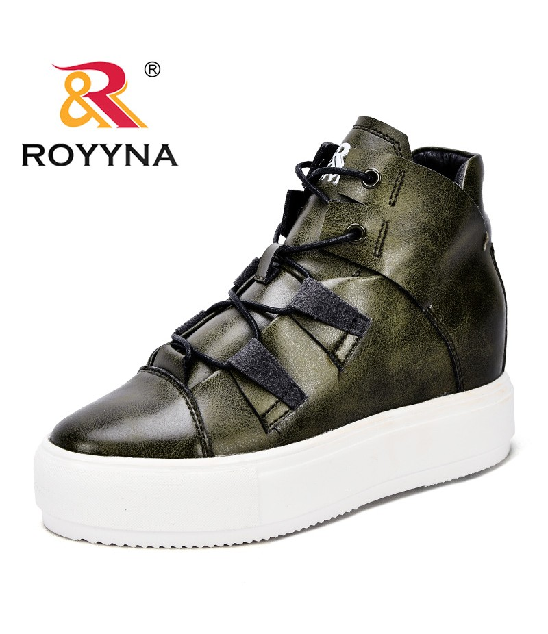 ROYYNA New Fashion Style Women Sneakers Shoes Lace Up Feminimo Casual Shoes Delicate Design Lady Flats Light Fast Free Shipping