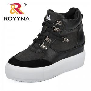 ROYYNA 2018 Autumn New Designer Platform Sneakers Women Vulcanize Shoes Tenis Feminino Casual Female Shoes Increasing Height