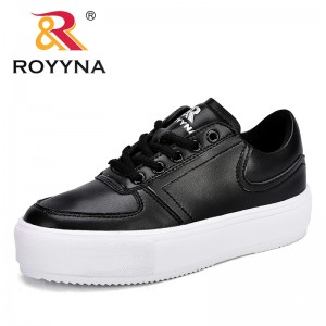ROYYNA New Arrival Classics Style women Sneakers Shoes Platform Lace Up Feminimo Leisure Shoes Microfiber Lady Flats