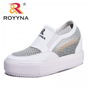 ROYYNA New Fashion Style Women Flats Platform Increasing Height Feminimo Casual Shoes Microfiber Lady Sneakers Free Shipping