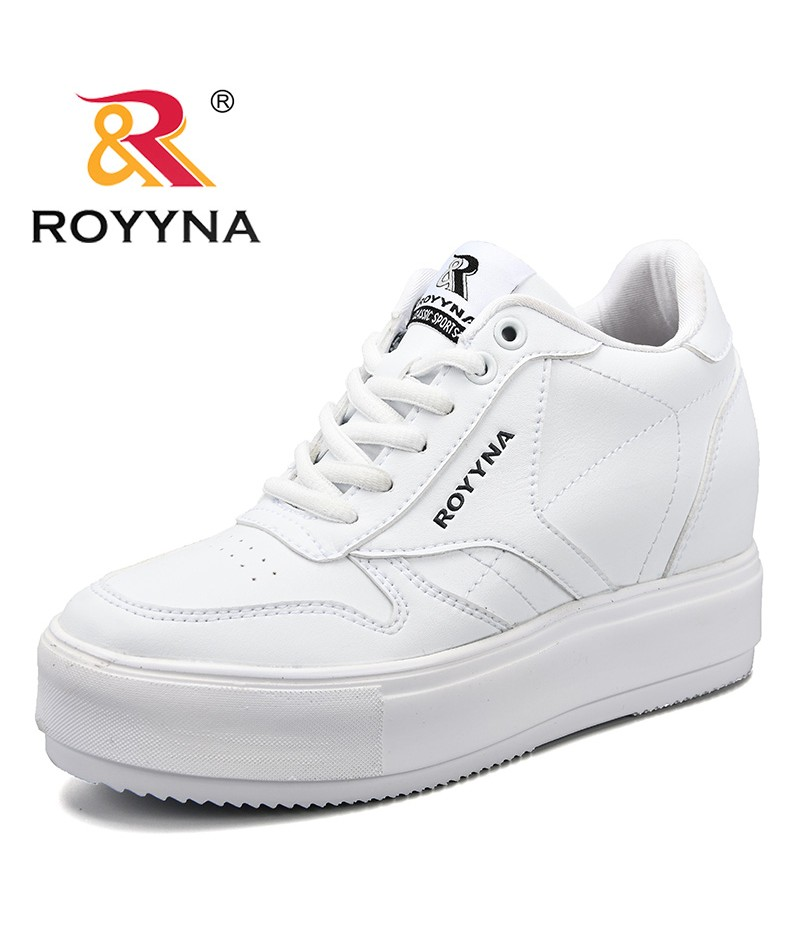 ROYYNA New Arrival Popular Style Women Sneakers Shoes Flat Platform Female Leisure Shoes Microfiber Lady Flats Free Shipping
