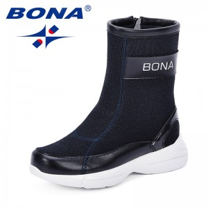BONA 2018 Autumn and Winter New Products Children Boots Kids Sneaker Boots Boys Girls Breathable Wearable Sock Boots Comfortable