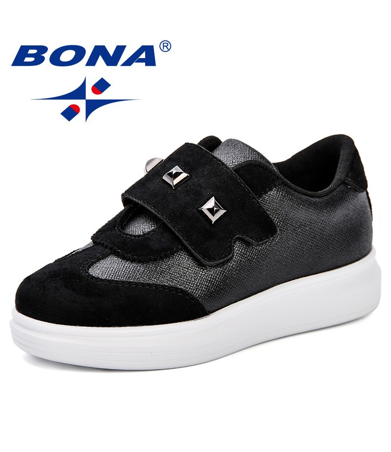 BONA Children Canvas Shoes Outdoor Causal Shoes Comfortable Shoes Fashion Light Sneakers Synthetic Girls Platform Flats Shoes