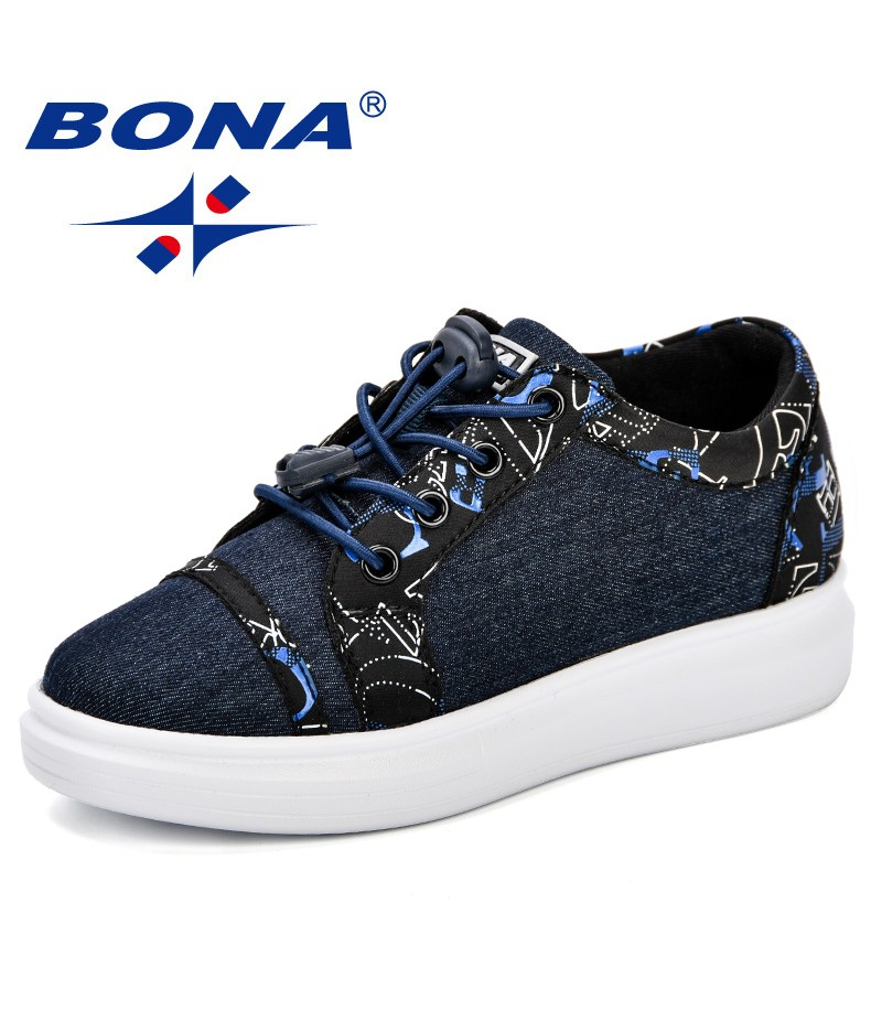 BONA Canvas Children Shoes Sport Breathable Boys Sneakers Kids Shoe Girls Jeans Denim Casual Child Flat Canvas Shoes Comfortable