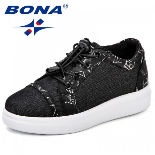 BONA Canvas Children Shoes Sport