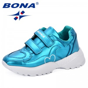 BONA 2018 Autumn New Kids Shoes Boys Sport Shoes New Designer Breathable Shoes For Girls Sneakers Fashion Brand Casual Shoes Boy