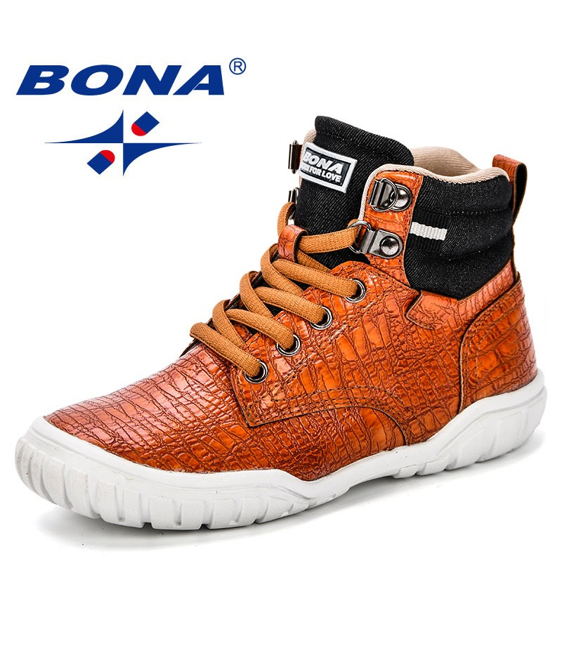 BONA 2018 Autumn New Arrival Mid-Calf Boys Leisure Shoes Fashion Children Sport Shoes Outdoor Trendy Casual Sneakers For Girls