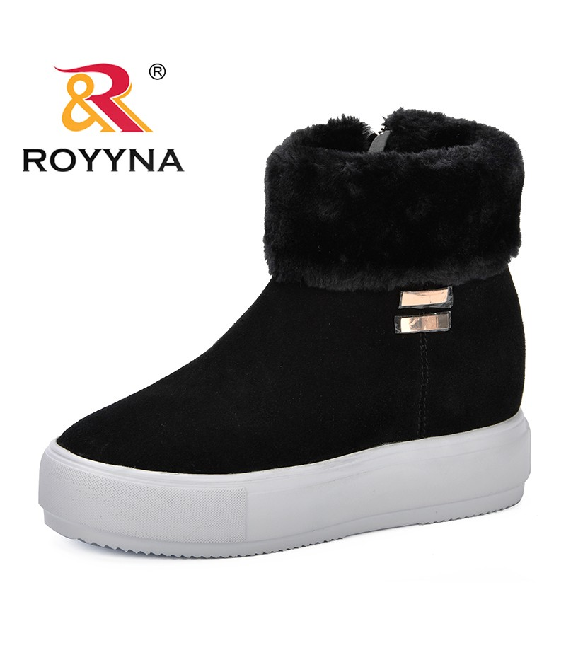 ROYYNA New Trendy Style Women Boots Shoes Woman Footwear Fashion Women's Winter Shoes Ankle Boots For Women Snow Boots Black