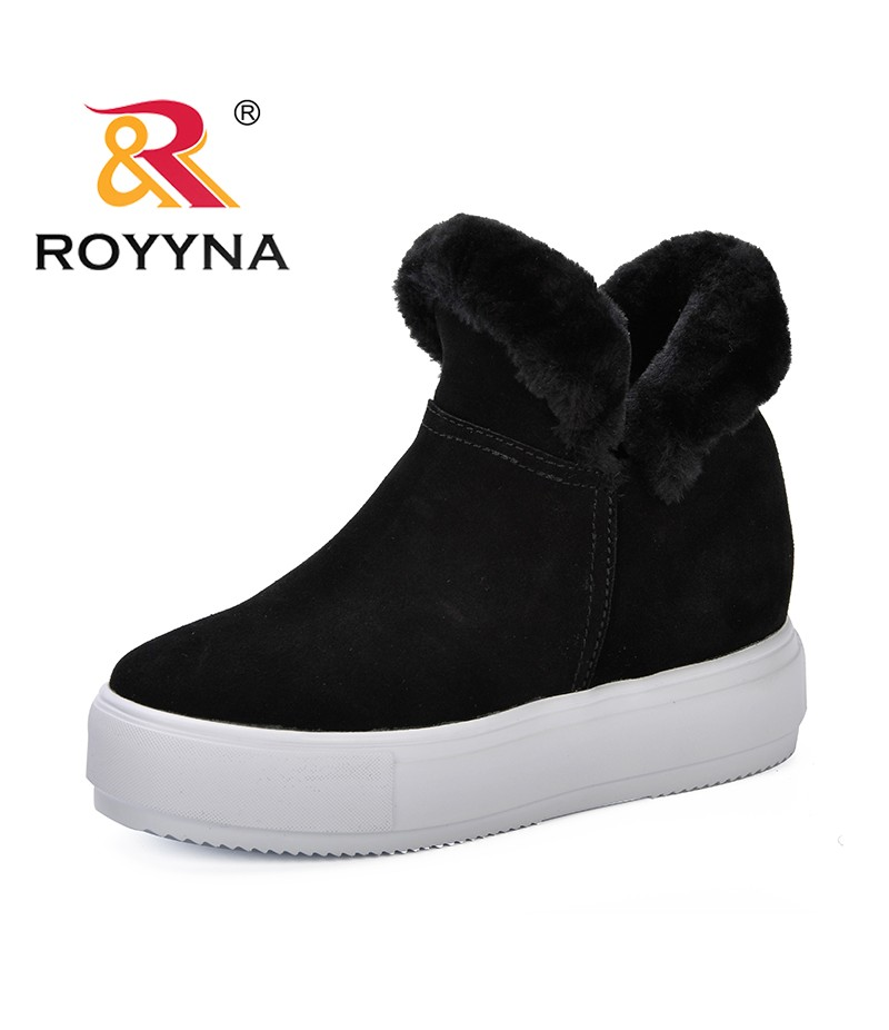 ROYYNA New Style Woman Winter Snow Boots Warm Ankle Boots Platform Female Boots Winter Snow Footwear Lady Low Heel Shoes Trendy