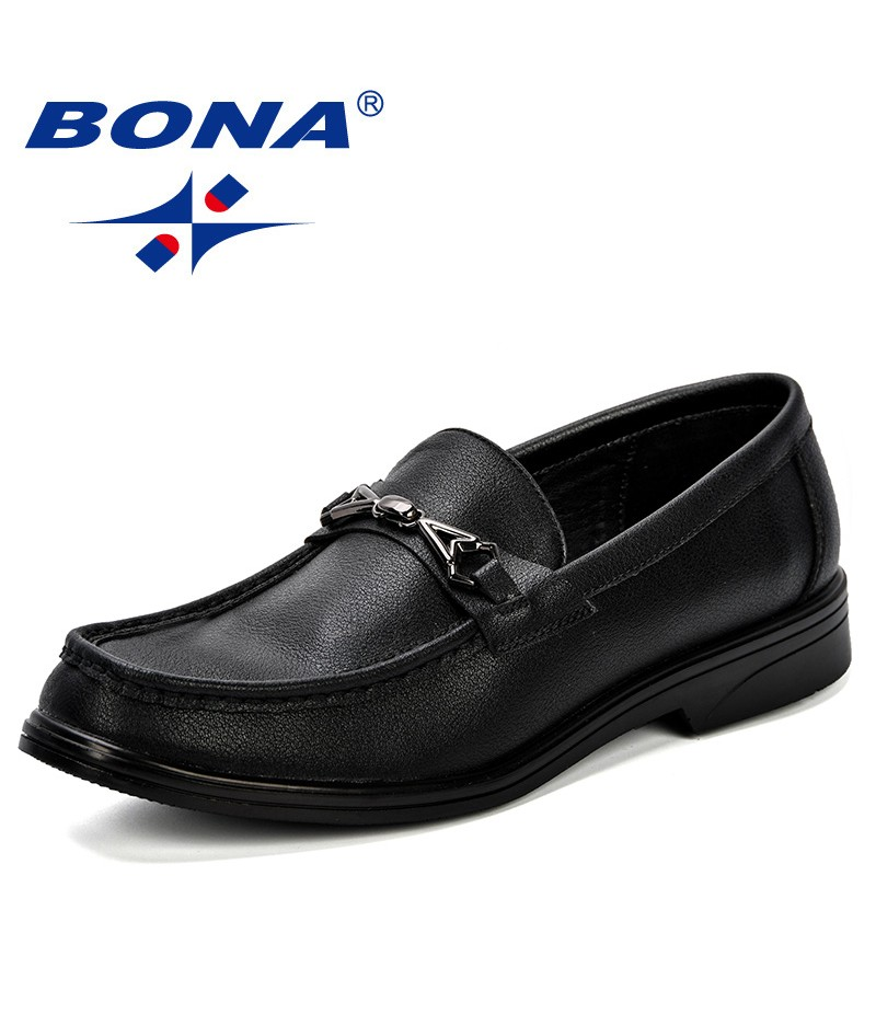 BONA Spring & Autumn Boat Shoes Mens Casual Shoes Loafers Leather Handmade Comfortable Breathable Men Leisure Shoes Light Soft