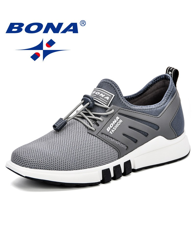 BONA Men Walking Shoes Autumn Winter Sneakers Youth Outdoor Sport Shoes Men Breathable Exercise Shoes Comfortable Men Footwear