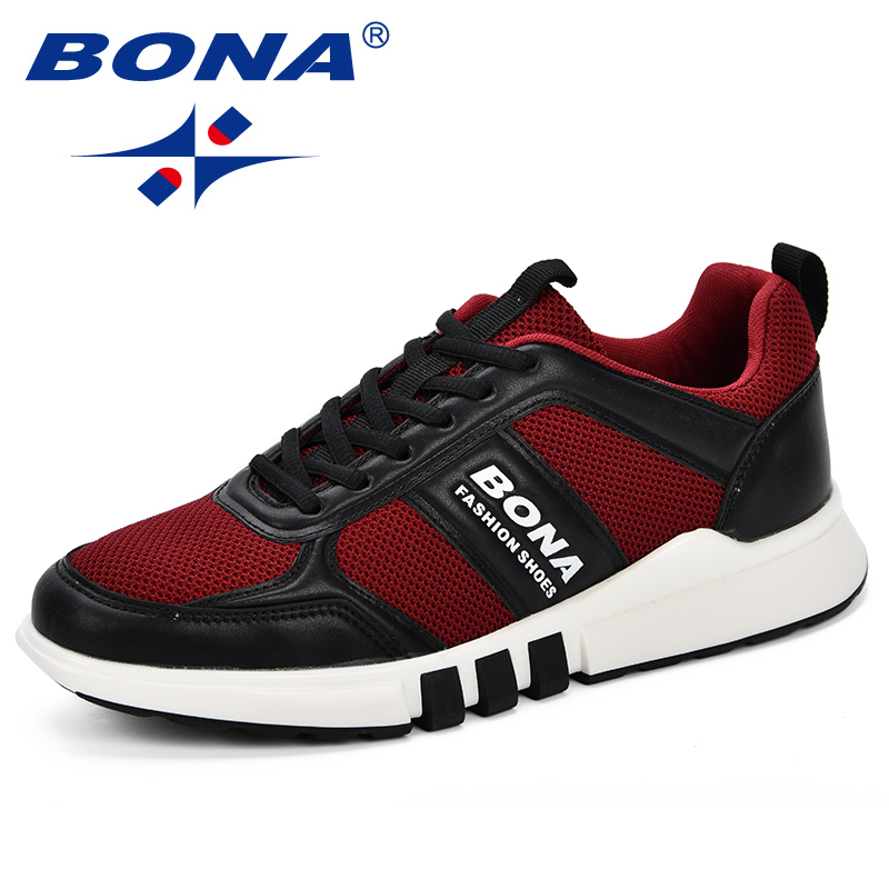 BONA New Style Men Walking Shoes Autumn Sneakers Outdoor Medium Top Athletic Unique Design Shoes Jogging Breathable Comfy Shoes