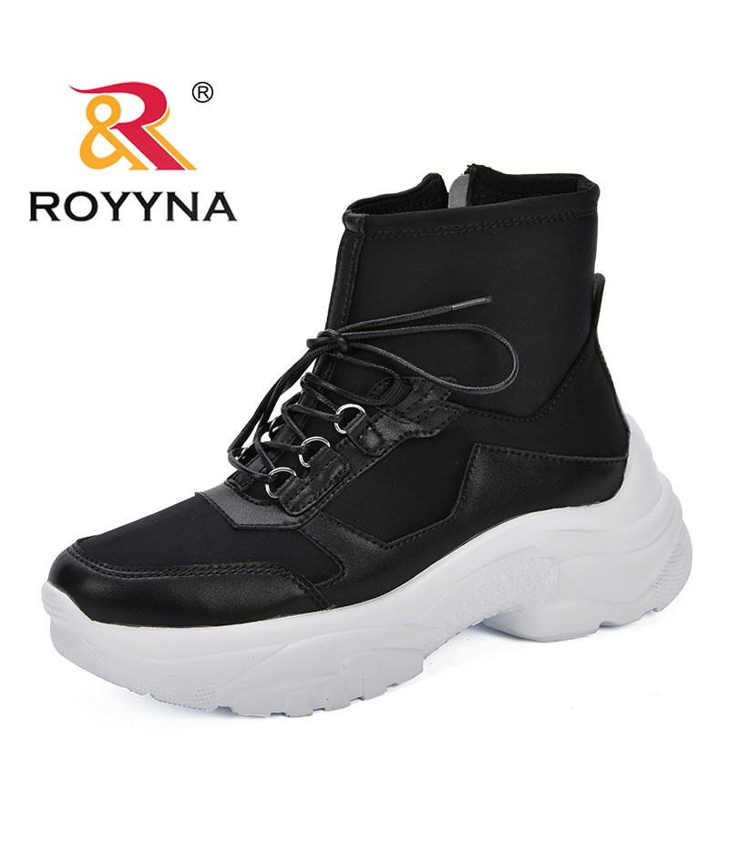 ROYYNA New Designer Fashion Style Women Boots Round Head Thick Bottom Martin Boots Classic Boots Sapatos Mulheres Feminimo Shoes