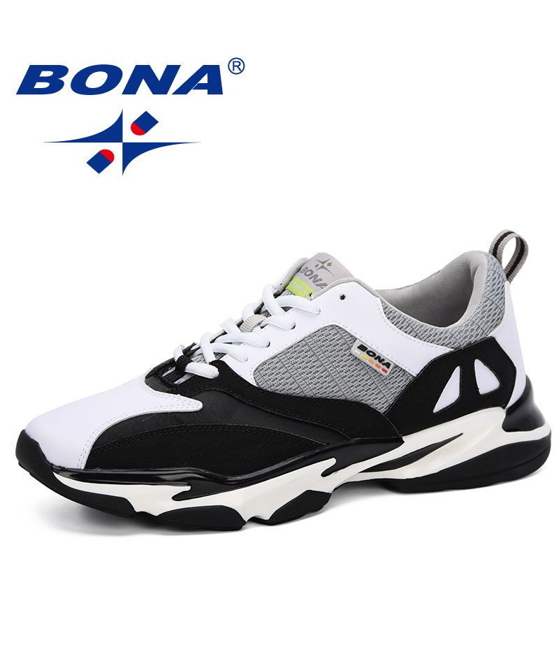 BONA 2019 Men Running Shoes Lace Up Sneakers Men Outdoor Sports Shoes For Male Mesh Athletic Trainers Men Walking Jogging Hombre