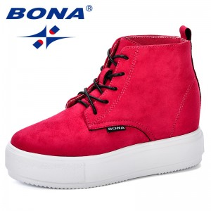 BONA New Popular Style Woman Casual Shoes Breathable 2018 Autumn Winter Sneakers Women Platform Fashion Flats Shoes Lady Trendy