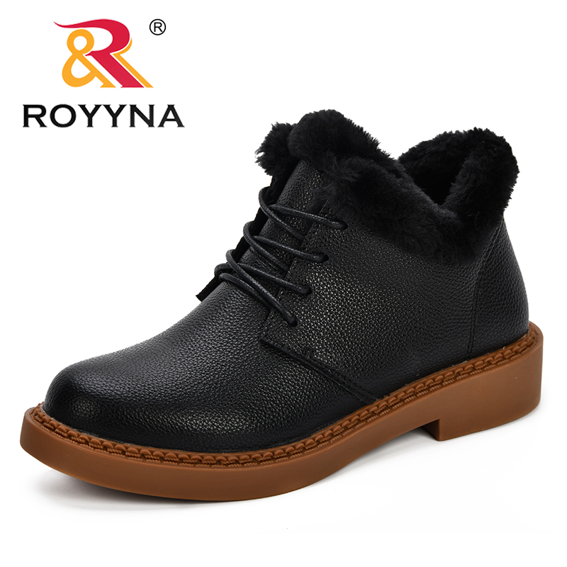 ROYYNA Snow Boots 2018 classic Women Winter Boots Warm Plush Insole Ankle Boots Women Shoes Hot Lace-Up Shoes Feminimo Footwear