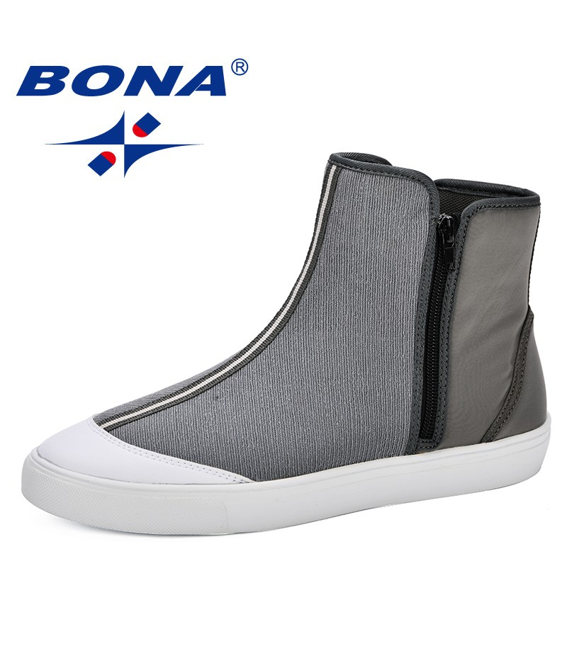 BONA Comfortable Fabric Shoes Spring & Autumn Light Breathable Casual ShoesOutdoor Trendy Sapatos Masculinos Fashion Socks Boots