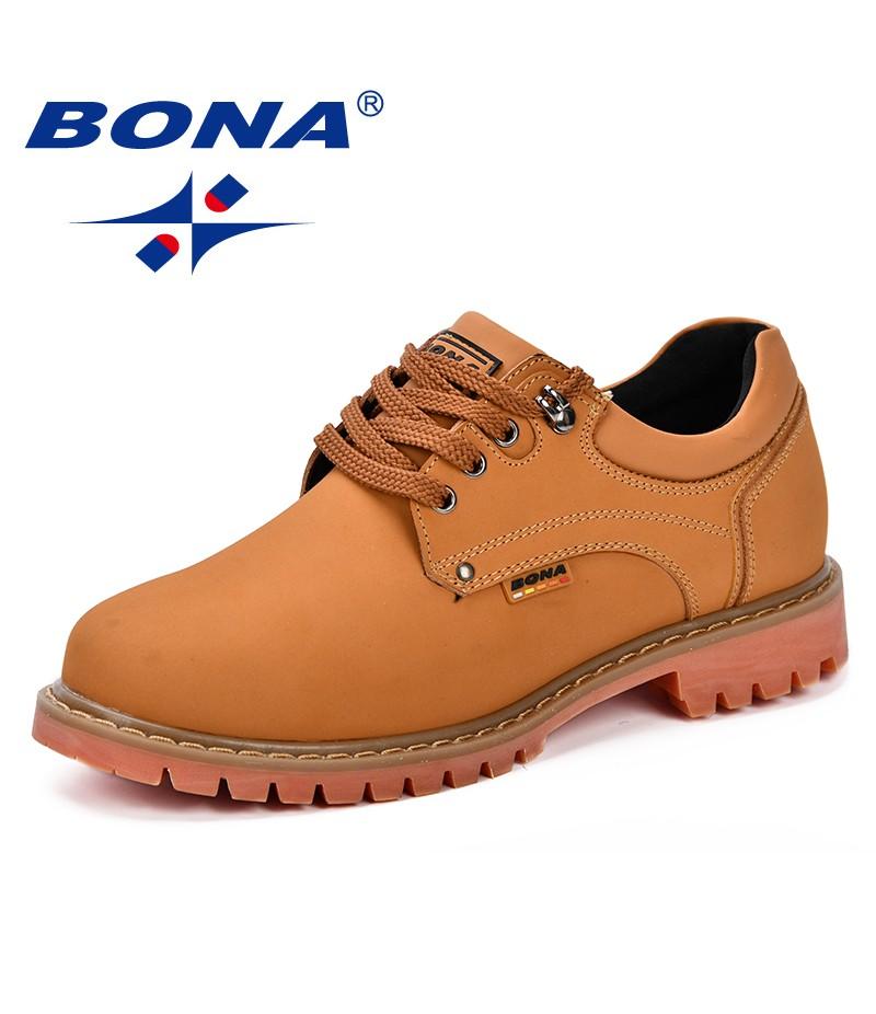 BONA 2018 Fashion Men Casual Shoes New Autumnmen Flats Cow Split Male Oxfords Men Leather Shoes Zapatillas Hombre Free Shipping