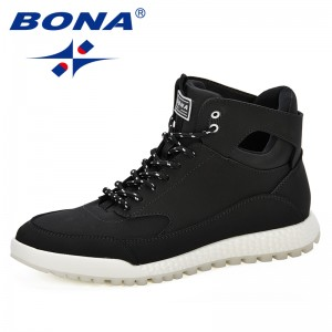 BONA New Arrival Popular Style Men Boots High Top Men'S Boots Fashion Trendy Men Boots Casual Men'S Shoes Fast Free Shipping