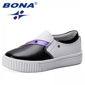 BONA 2019 New Designer Fashion Style Spring Autumn Kids Casual Shoes Soft Breathable Children Sneakers Boys Girls Sport Shoes