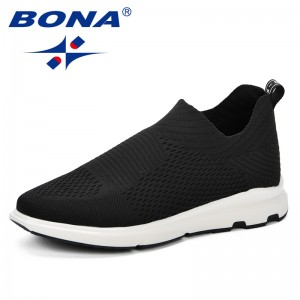 BONA 2019 Spring Autumn Men Sneakers Balenciaca Shoes Sport Flyknit Comfortable Walking Shoes Zapatos De Hombre Boost Men Shoes
