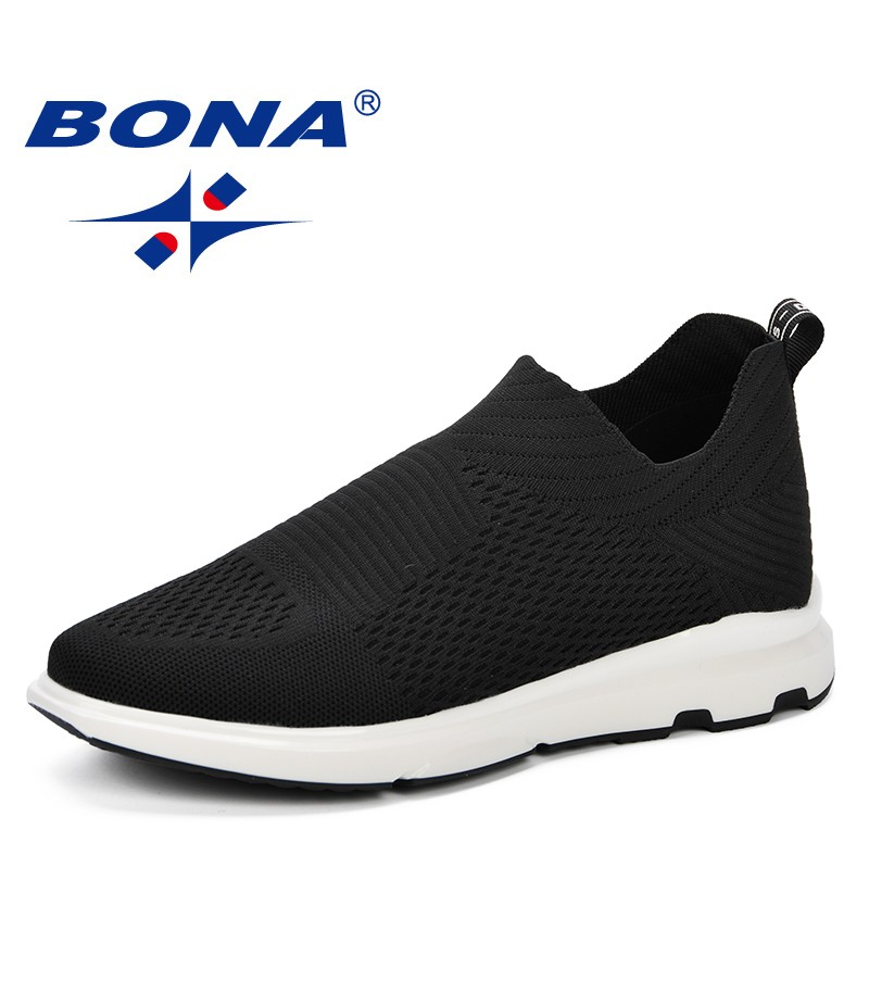 BONA 2019 Spring Autumn Men Sneakers Balenciaca Shoes Sport Flyknit Comfortable Walking Shoes Zapatos De Hombre Boost Men Shoes