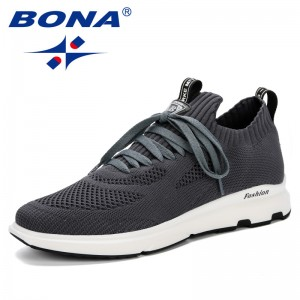 BONA 2019 Classical Lightweight Men Sneakers Comfortable Lace Up Breathable Hard-Wearing Mens Casual Shoes Zapatillas Hombre