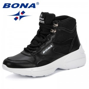 BONA New Trendy Style Female Shoes Winter Warm Boots Woman Ankle Boots Top Quality 2019 Lady Shoe Plus Big Sizes Comfortable