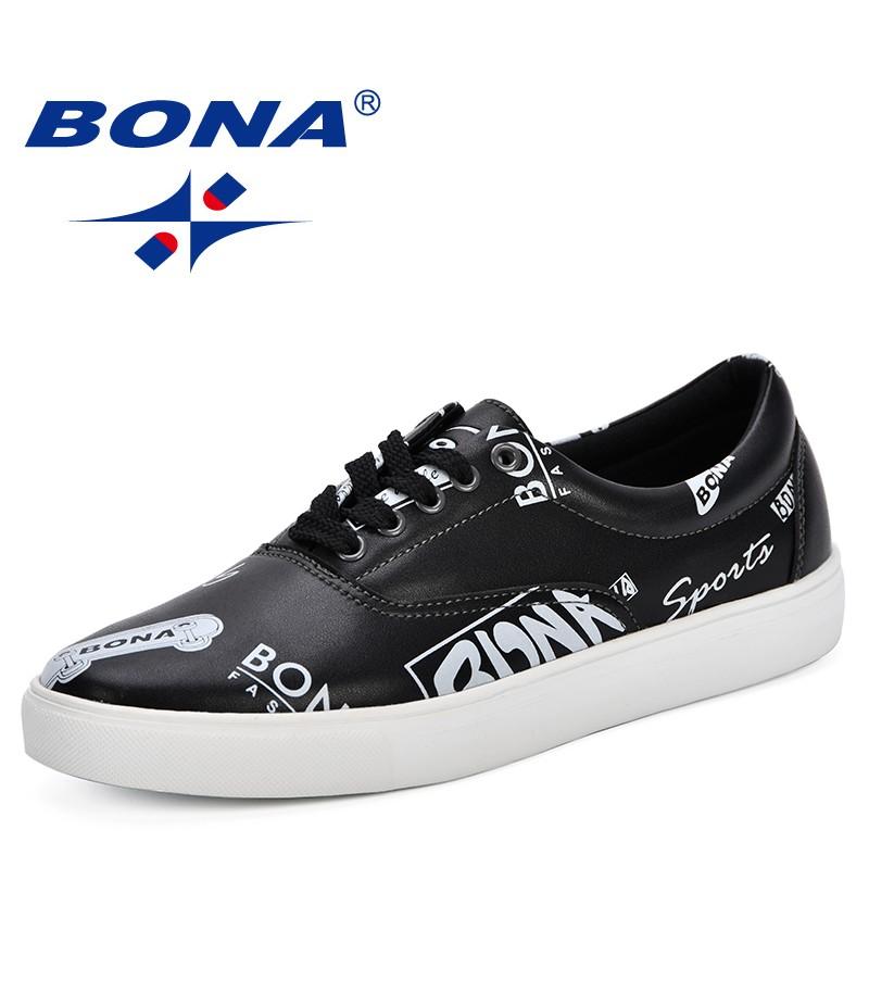 BONANew Designer Black Skateboarding Shoes Men Sneakers Teenager Entertaiment Skate Trendy Shoes Breathable Leisure Sport Shoes