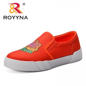 ROYYNA New Designer 2019 Wedges Canvas Shoes Female Platform Sneakers Women Tenis Feminino Casual Woman Zapatos De Mujer Trendy