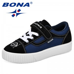 BONA New Classics Style Children Casual Shoes Synthetic Kids Flats Outdoor Fashion Sneakers boys Comfortable Girls Leisure Shoes