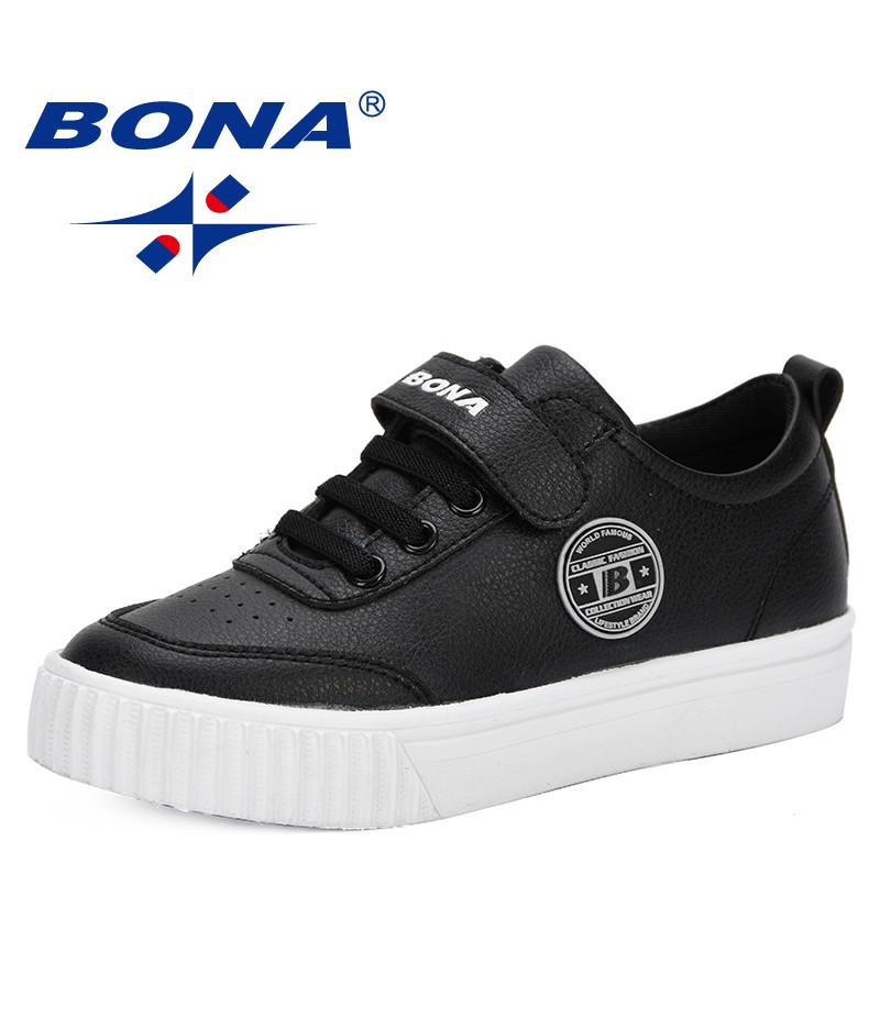 BONA 2019 Spring Autumn Children Shoes Boys Sport Shoes Antislip Soft Bottom Kids Sneaker Casual Flat Sneakers White Shoes