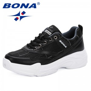 BONA 2019 New Style Running Shoes Woman Sport Shoes Women Sneakers Zapatos Corrientes De Verano Trendy Chaussure Homme De Marque