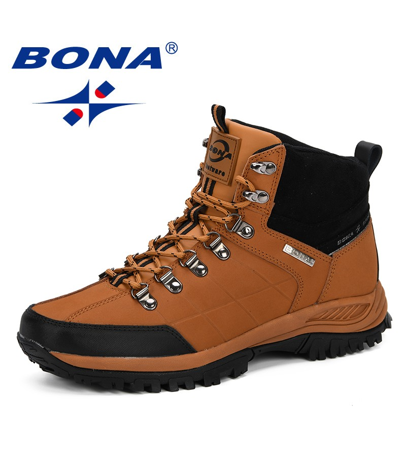 BONA New Designer Men Boots Autumn & Winter 2019 Men Ankle Boots Fashion Outdoor Working Boots Tenis Masculino Adulto Comfy