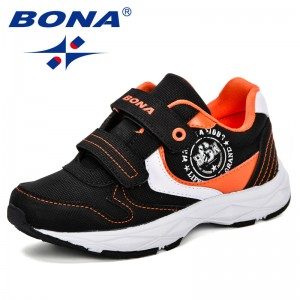 BONA Children Shoes Kids Shoes Boys Casual Shoes Kids Sneakers Boys Leather Fashion Sport Children Sneakers 2019 Spring Autumn