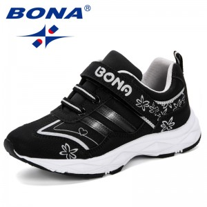 BONA 2019 Spring Autumn Children's Shoes Boys Girls Sneakers Shoes Soft Bottom Shoes Sports For Kids Outdoor Jogging Comfortable