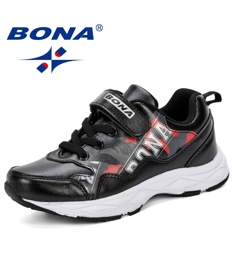 BONA New Designer Style Kids Shoes For Boys Girls 2019 Children Casual Sneakers Breathable Soft Running Sports Shoes Comfortable