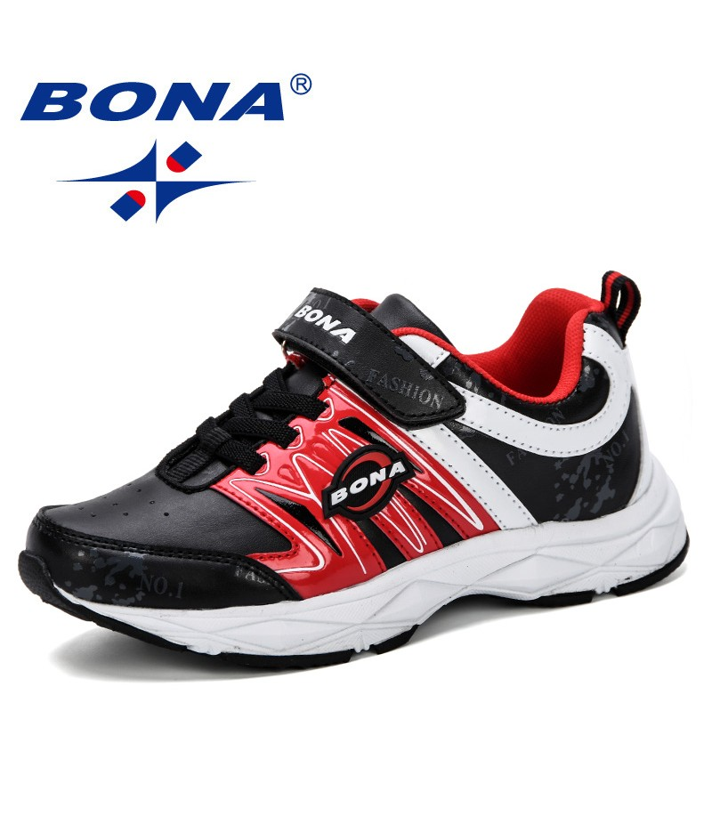 BONA 2019 New Boys Sneakers Shoes Kids Sport Shoes Girls Sneakers Children Breathable Student Casual Shoes Fashion Autumn Shoes
