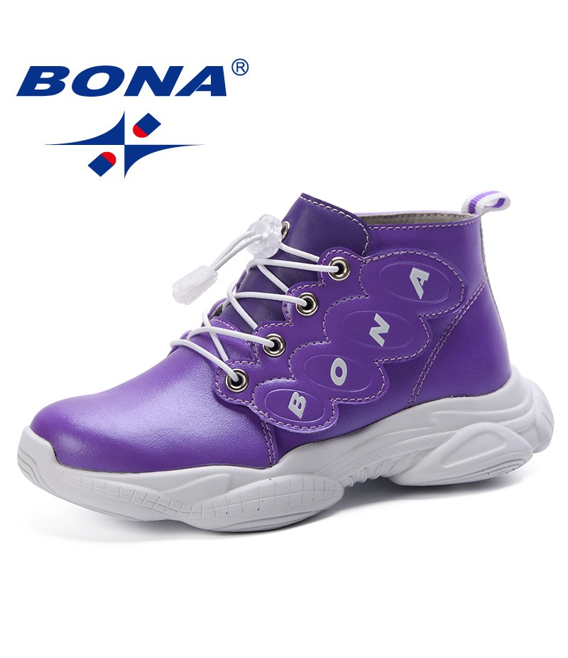 BONA 2019 Spring Autumn Children Sport Shoes Fashion Kids Antislip Soft Sneakers Girls Boys Casual Shoes Cute Running Shoes