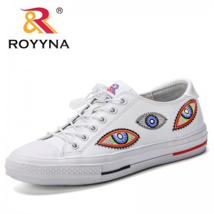 ROYYNA New Designer Breathable Tenis Feminino Lace Up Outdoor Casual Shoes Lightweight Woman Vulcanized Sneakers Women Shoes