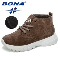 BONA 2019 New Popular Style Children Warm Winter Boots Outdoor Sneaker Boy Snow Boots Casual Shoes Kalosze Dla Dzieci Kid Boots