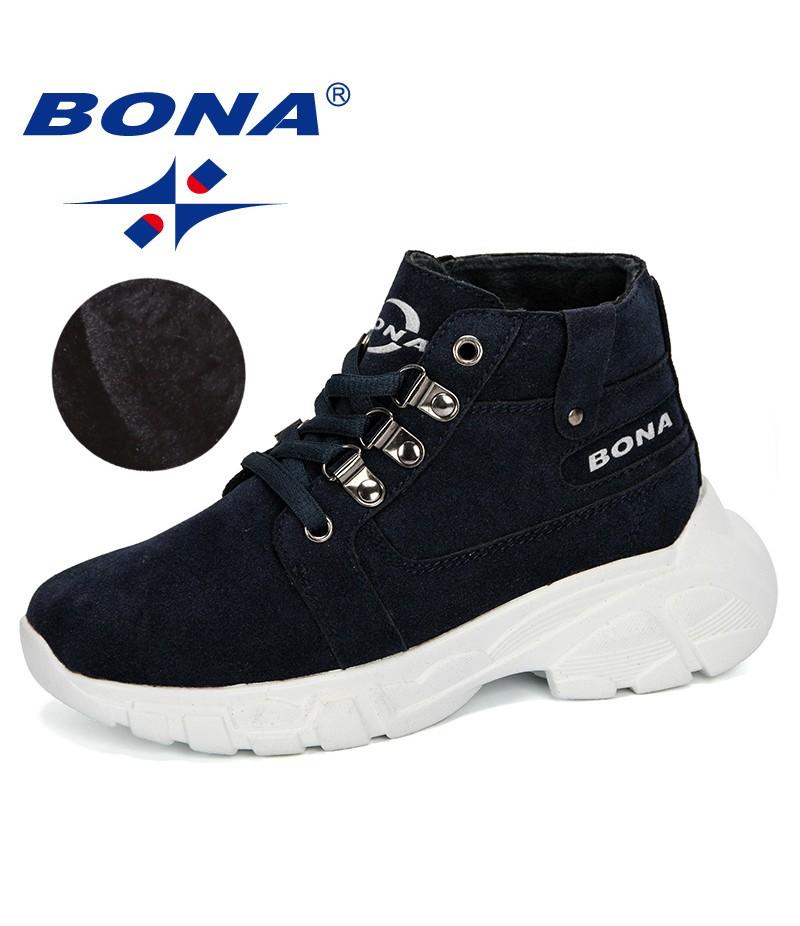 BONA 2019 New Popular Style Children Warm Winter Boots Outdoor Sneaker Boy Snow Boots Casual Shoes Kalosze Dla Dzieci Kid Boots