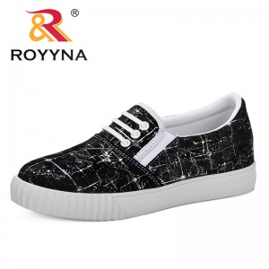 ROYYNA 2019 Spring Fashion Breathble Vulcanized Shoes Women Platform Slip-On Casual Comfortable Tenis Feminino Zapatos De Mujer