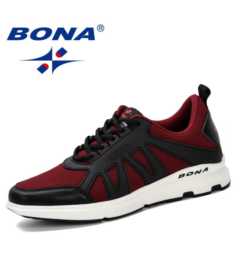 BONA 2019 Spring Men Shoes Sneakers Casual Breathable Trendy Air Mesh Shoes Zapatillas Hombre Deportiva Sapato Masculino Adulto