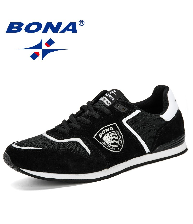 BONA 2019 Spring Autumn Fashion Men Sneakers Breathable Mesh Men's Casual Shoes New Summer Soft Krasovki Men Leisure Footwear