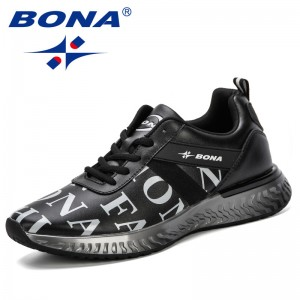 BONA 2019 Men Casual Shoes Breathable Male Shoes Tenis Masculino Shoes Zapatos Hombre Sapatos Outdoor Shoes Sneakers Comfortable