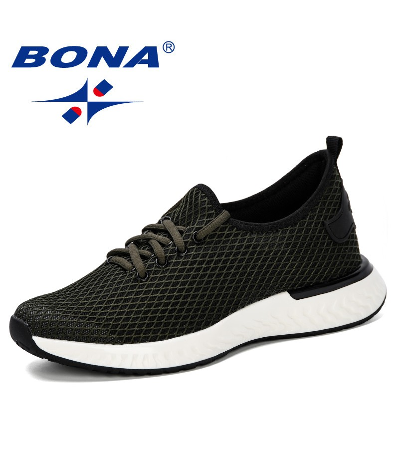 BONA 2019 New Men Casual Shoes Breathable Fashion Sneakers Man Shoes Tenis Masculino Zapatos Hombre Sapatos Outdoor Shoes Comfy